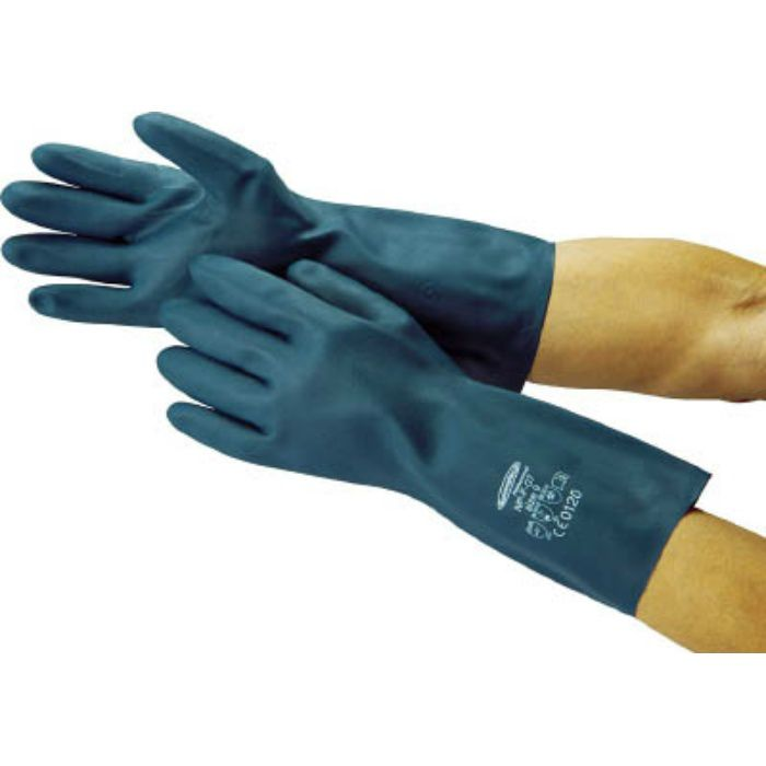 4486 耐油・耐溶剤手袋 サミテックNP-F-07 L ダークブルー