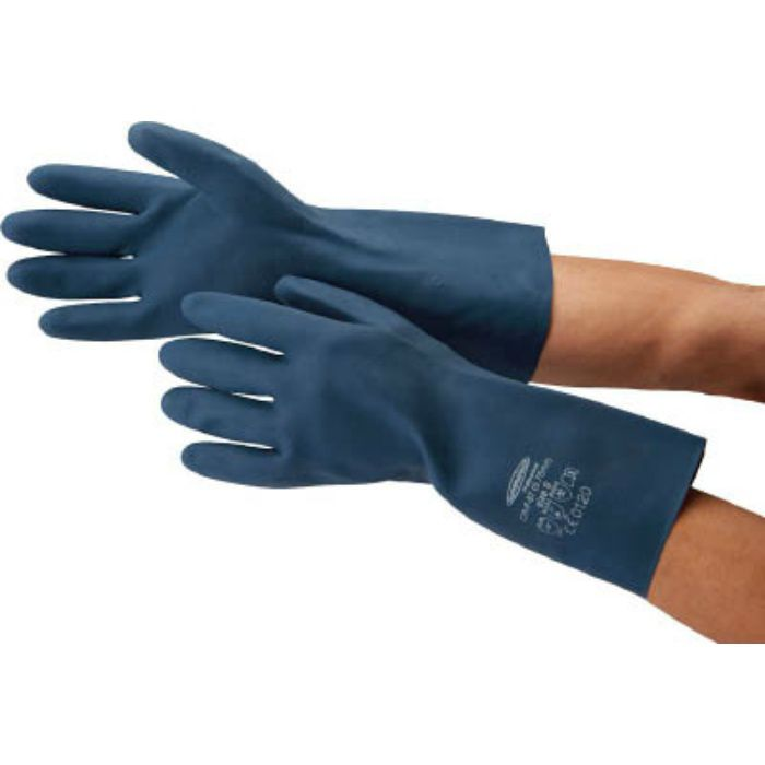 4488 耐油・耐溶剤手袋 サミテックCR-F-07 M ダークブルー