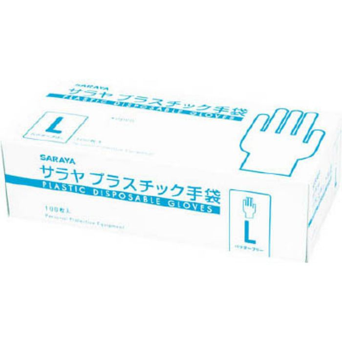 【入荷待ち】53500 プラスチック手袋粉無 L (100枚入)