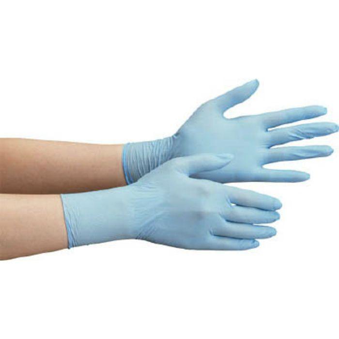 VERTE710NL ニトリル使い捨て手袋 極薄 粉なし 青 L(100枚入)