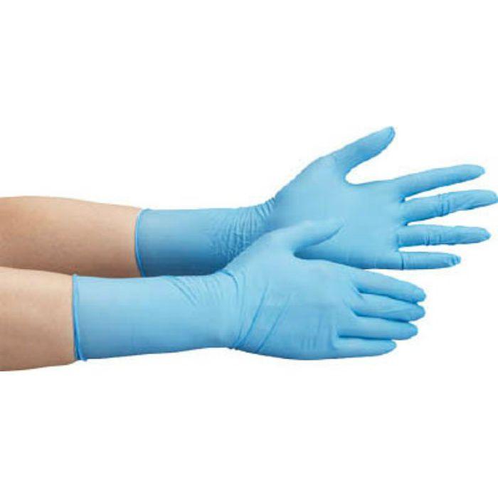 【入荷待ち】VERTE756HSS ニトリル使い捨て手袋 ロング 粉なし 青 SS (100枚入)