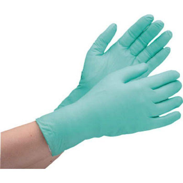 VERTE761HSS ニトリル使い捨て手袋 薄手 粉なし 緑 SS (200枚入)