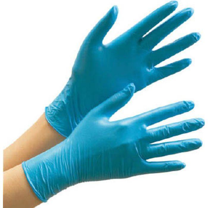 【入荷待ち】VERTE772LL ニトリル使い捨て手袋 薄手 粉なし 青 LL (100枚入)
