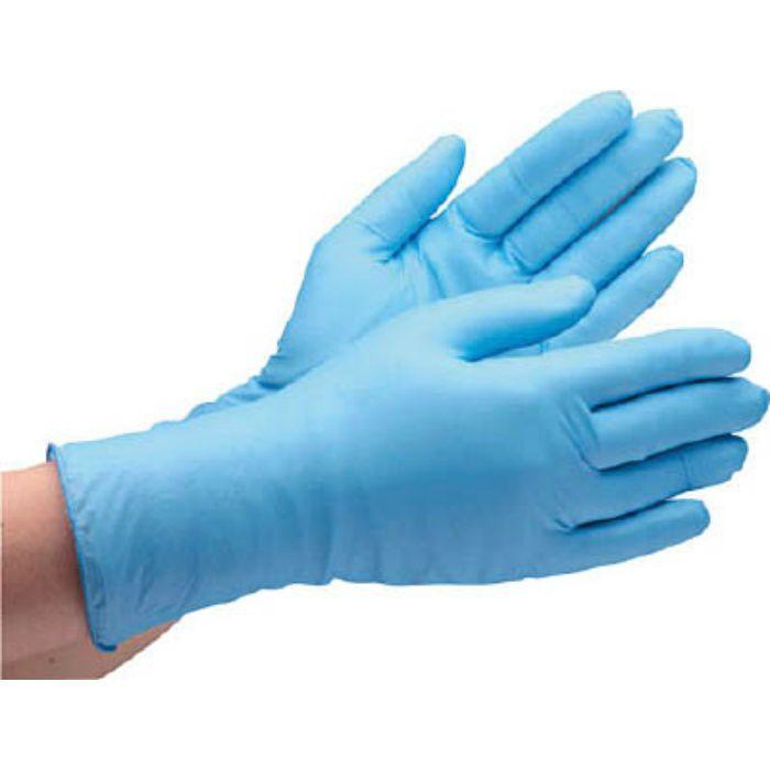 VERTE750KLL ニトリル使い捨て手袋 粉なし 青 LL (100枚入)