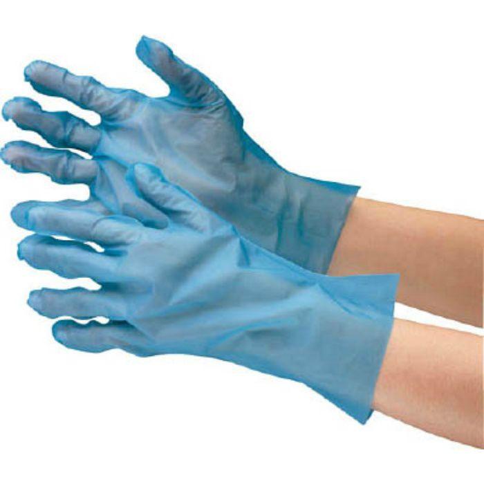 【入荷待ち】VERTE576M ポリエチレン使い捨て手袋 外エンボス 青 M (200枚入)