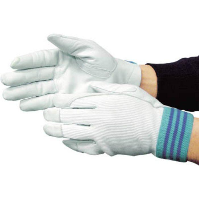 3201 国産牛革手袋 #12A デンコーアルミ 白 L