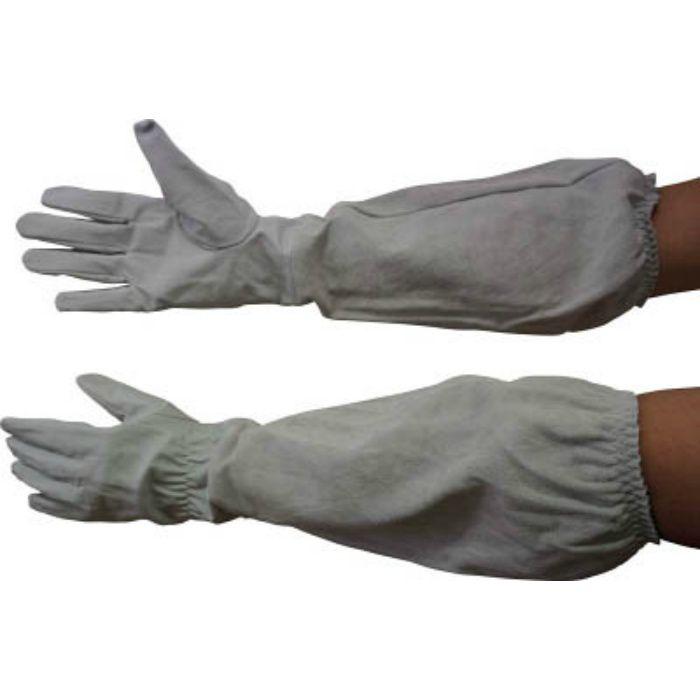 55697 肘まで長~い革手袋 L