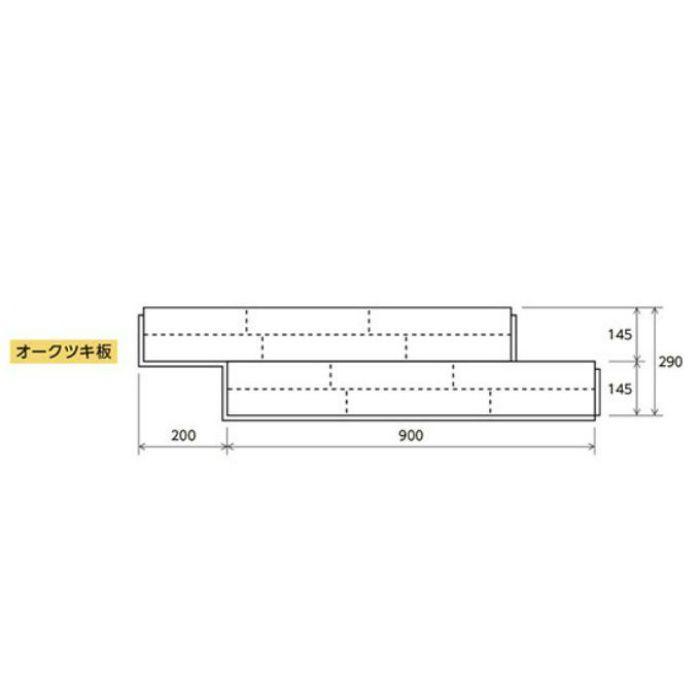 リリカラウッド L-X ネイキッドライト柄 : オークツキ板 LF-87711