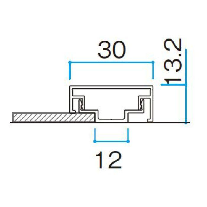 エバーアートボード部材 押え縁30×10エンド レッドウッド
