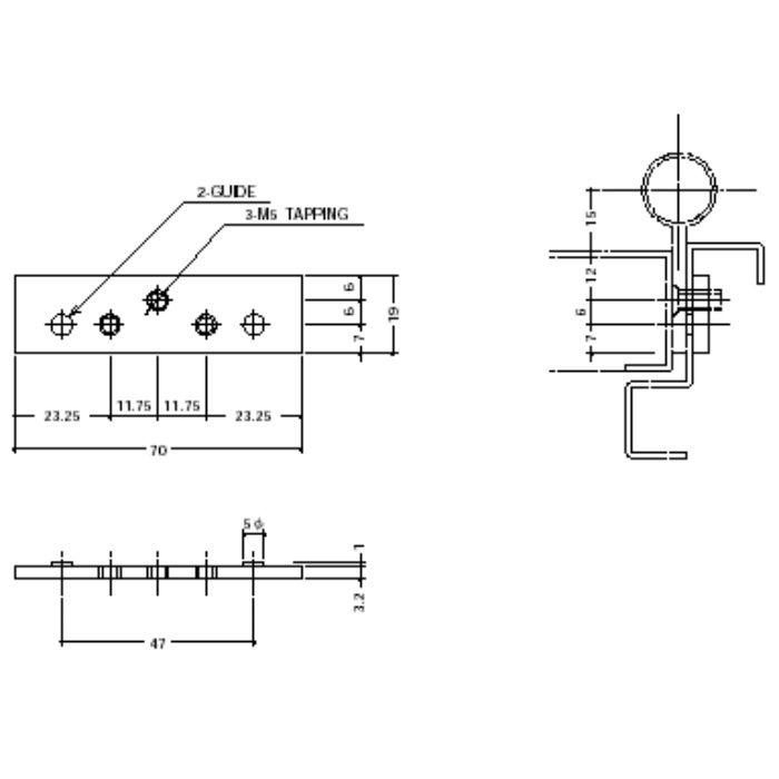 OD-003面付丁番用裏板 OD-003-BPB