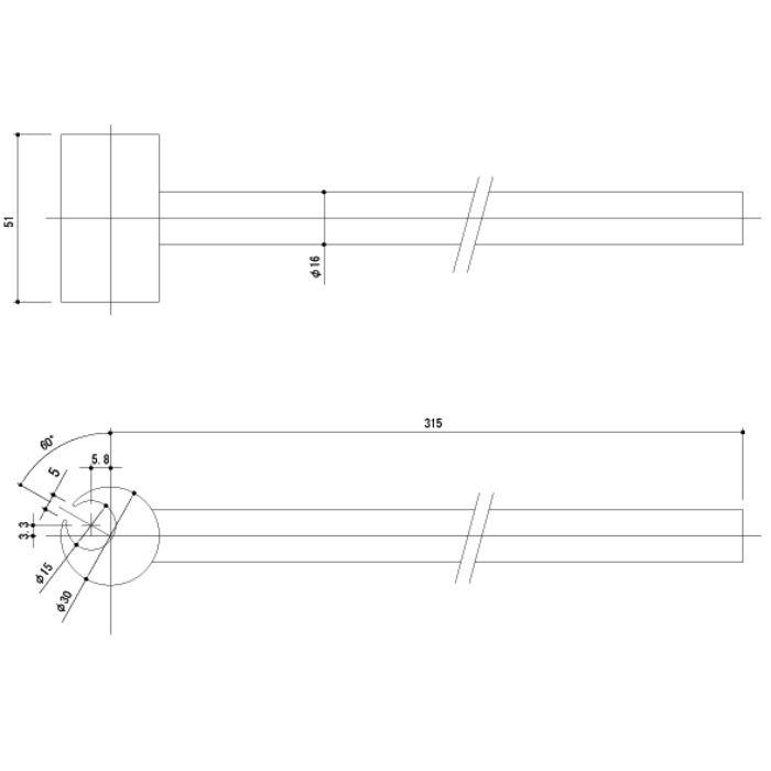 丁番調整棒(2t2.5t旗丁番用) 289-SH