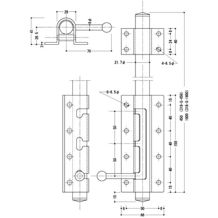 大型丸落シ 318-S-450【壁・床スーパーセール】