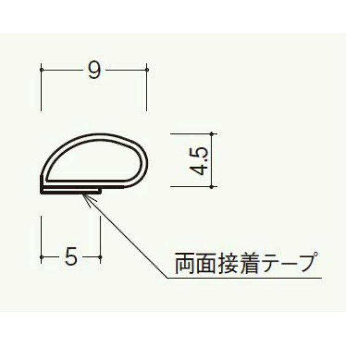 シリコンタイト(枠付用戸当りゴム) 黒色 808-BK