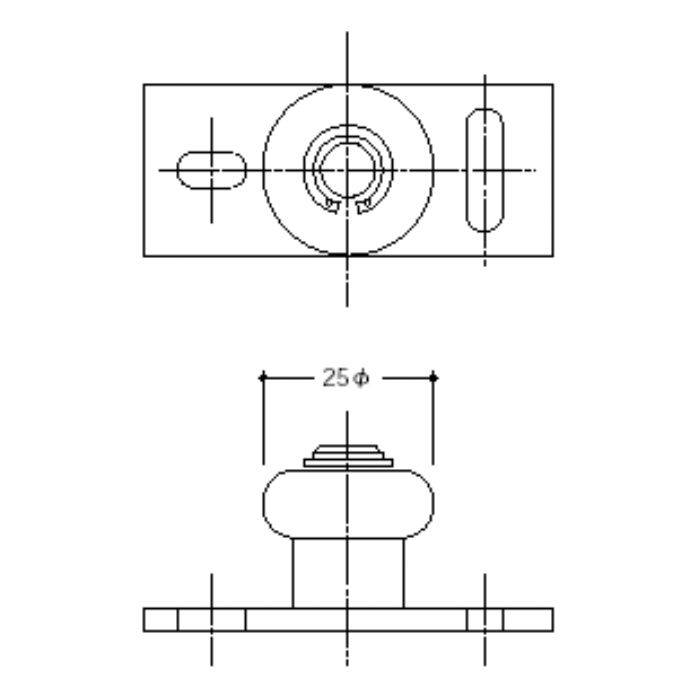 ガイドローラー 1025-25