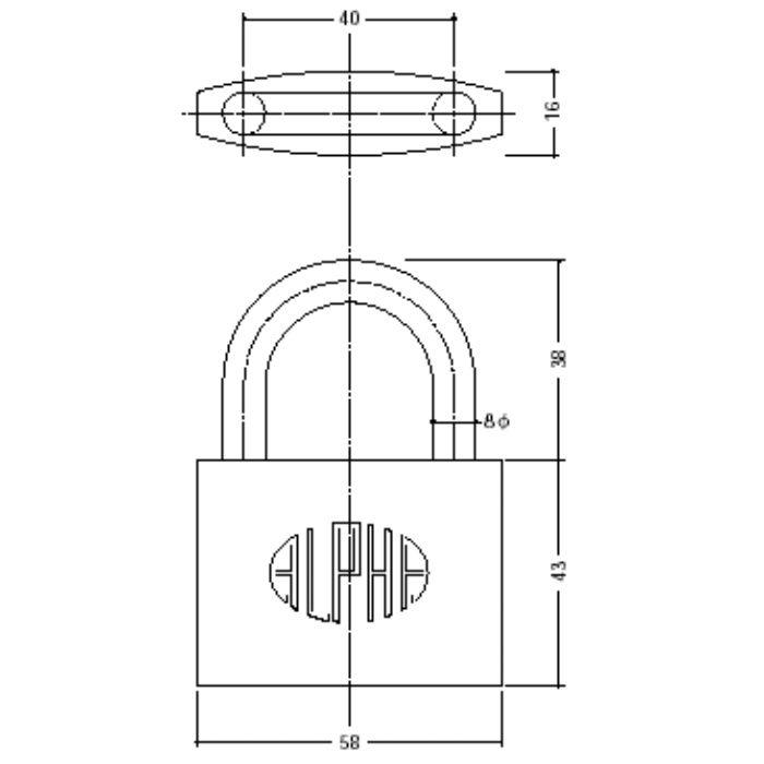 シリンダー南京錠 1000-60【壁・床スーパーセール】