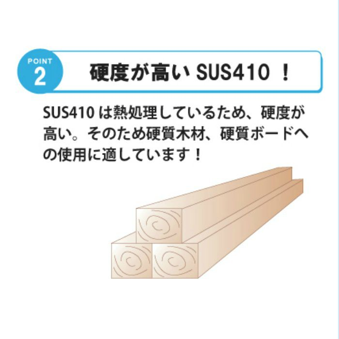 匠力 ステンレスコーススレッドSUS410ラッパ 3.8×57mm 半ねじ 500本/小箱