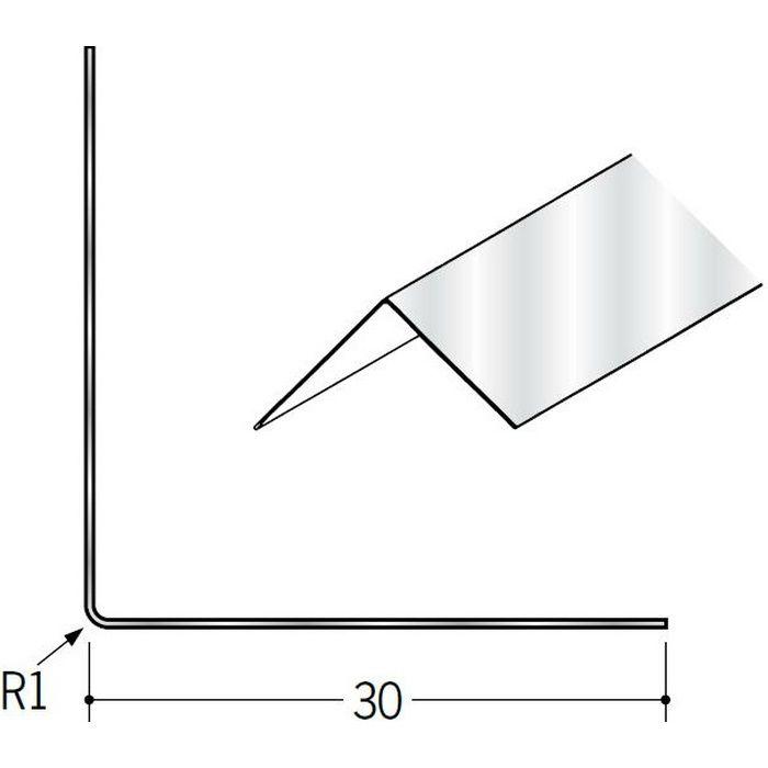 ペンキ・クロス下地材 出隅 金属 アルミ折コーナー30×30 生地 2.73m  01420