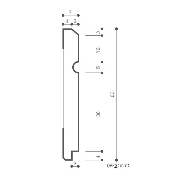 WRH5135 巾木 アップルウッドD / アップル 4本/ケース