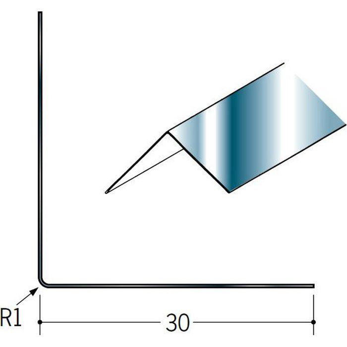 ペンキ・クロス下地材 出隅 金属 ステン折コーナー30×30 #400程度 2.73m  01430