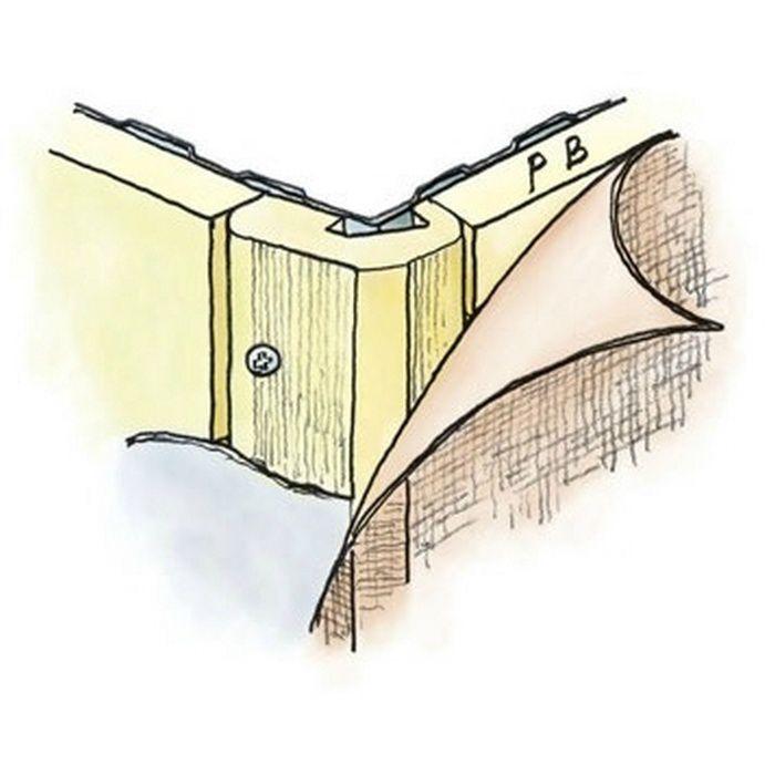 ペンキ・クロス下地材 出隅 ビニール 発泡コーナー10面取12.5mm ミルキー 2.6m  01268