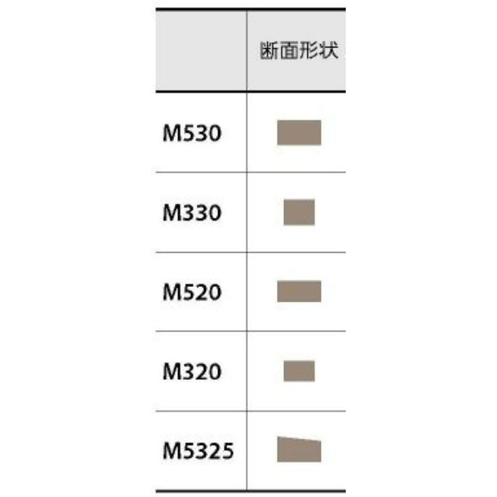 M330 No13 目地棒 2.9mm厚 3.5mm×930mm 100本/ケース
