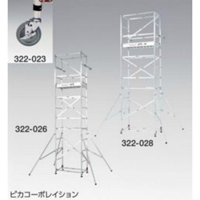 キャスターセット ATL-JS φ125mm 4個セット/セット 322023