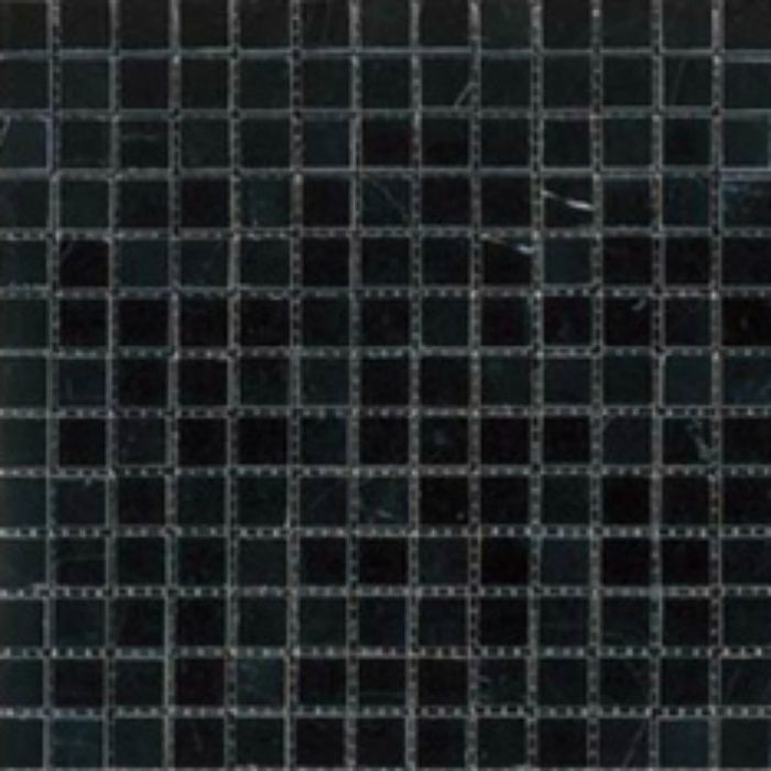 ZK7515 キエーザ 天然大理石モザイク 幾何学 / ネロ