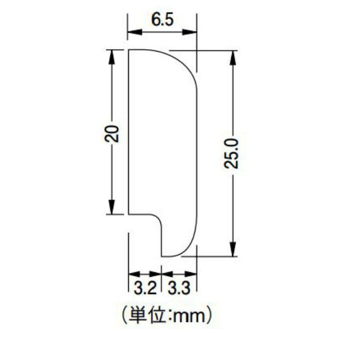 30KKM2016 立面仕上げ材 タイル・シート腰壁施工用モール材 高さ25mm 10本/ケース