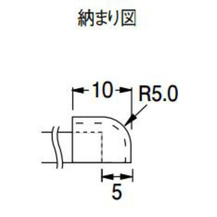 KCP1 防汚消臭腰壁シート部材 腰壁用エンドキャップ 20個/ケース