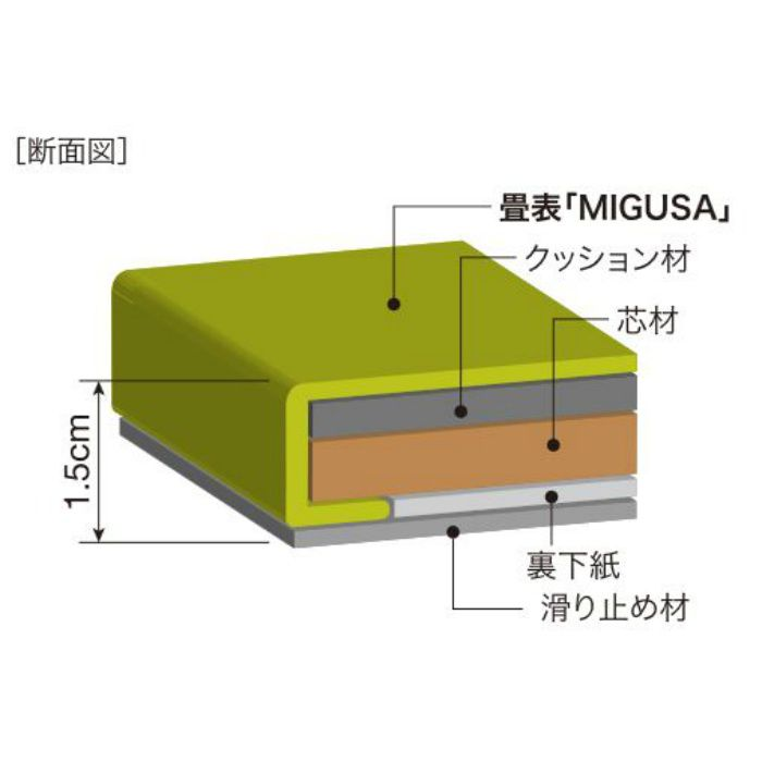 FLR-MS-GY セキスイ畳「MIGUSA」 目積 グレー