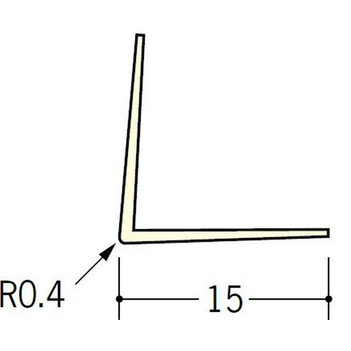 ペンキ・クロス下地材 出隅 ビニール L型コーナー15 ミルキー 2.5m  01012-1