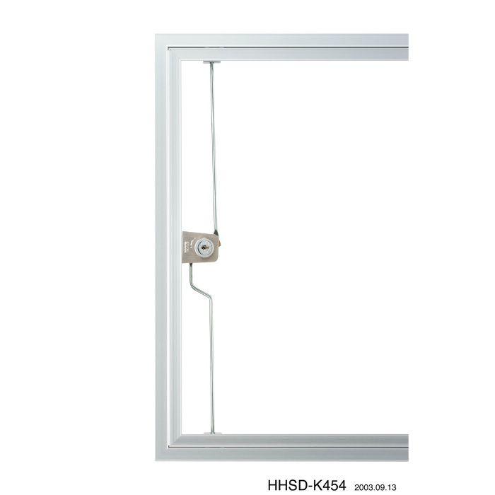 HHSD-K606 シルバー ハイハッチ鍵付 アルミ天井点検口 SDタイプ