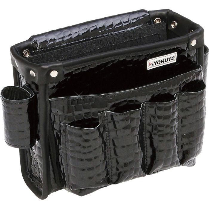 腰袋 本革腰袋クロコ M ブラック / クロコ柄 11-8205