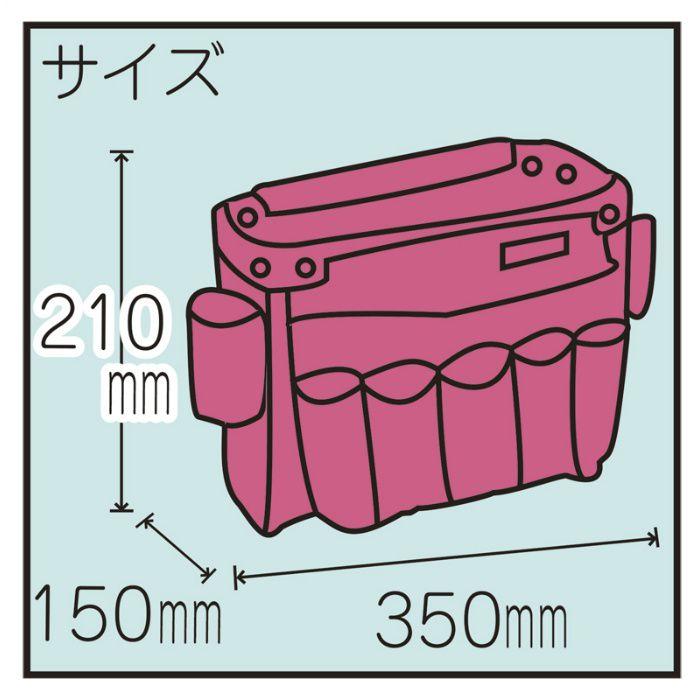 腰袋 本革腰袋クロコ L レッド / クロコ柄 11-8208