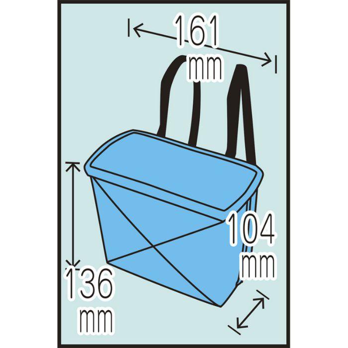 工具バック ラパンケース小 ブラック 12-8203