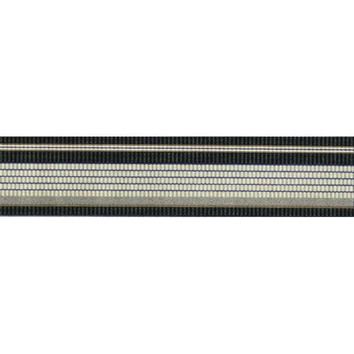 134-66321 マルチストライプ RUG MAT #10 ブラック 55cm×120cm