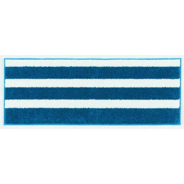 131-35872 バスク RUG MAT #38 Dブルー 45cm×120cm