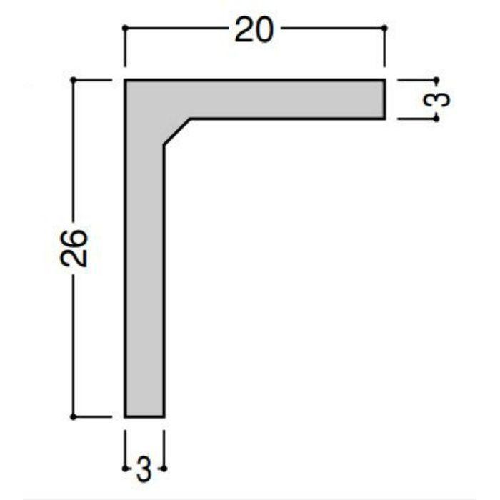 【ロット品】 棚受けアングル26X20 TU222W 2m ホワイト 50本/ケース
