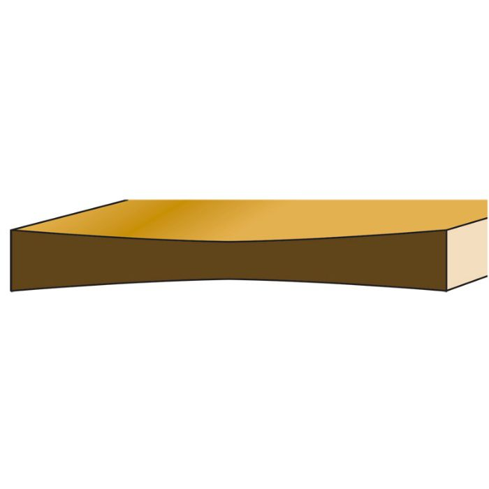 木製定規 極Wアーチ 約300mm 11-4122