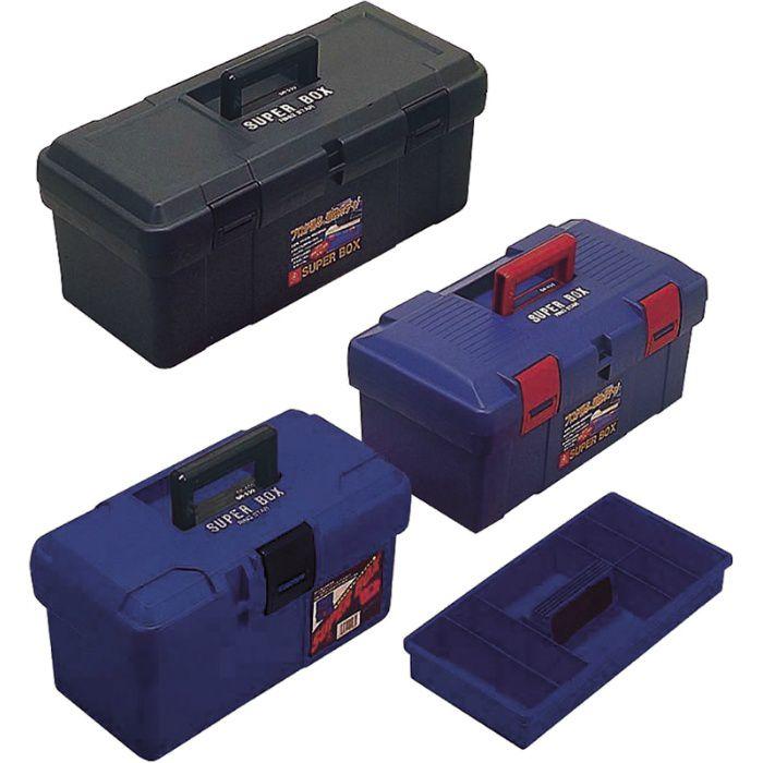 道具箱 スーパーボックス ブルー L400×W200×H200 63-8189