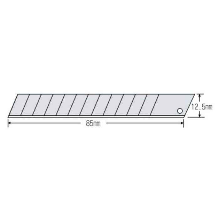 替刃(中) オルファ 替刃 黒刃 MBB-50K 50枚×10本/ケース 63-1536