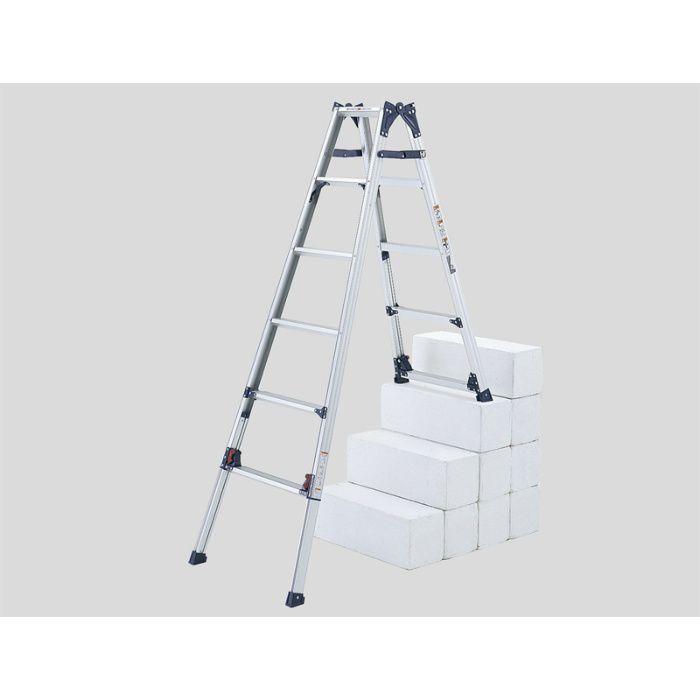 脚伸縮兼用段違い脚立 かるノビSCL(ピカコーポレイション) SCL-23A 64-5157