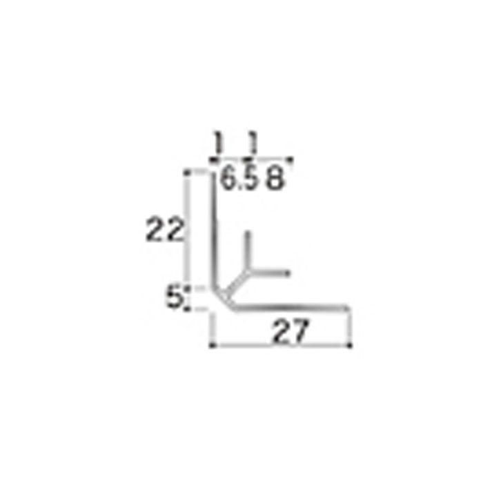 AB3JN アルミジョイナー3(入隅) 6.2mmタイプ 2430mm