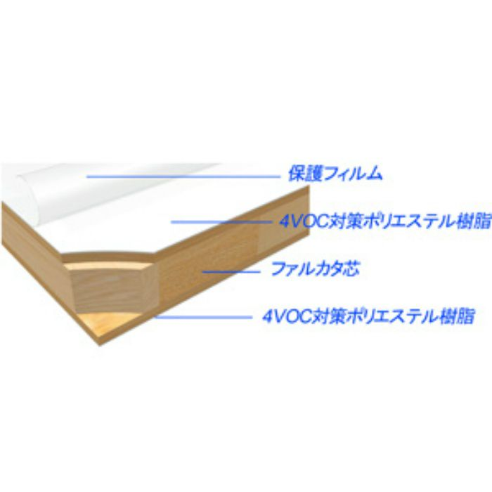 AB956RP-M ランバーポリ(艶消し) 18mm 3尺×6尺