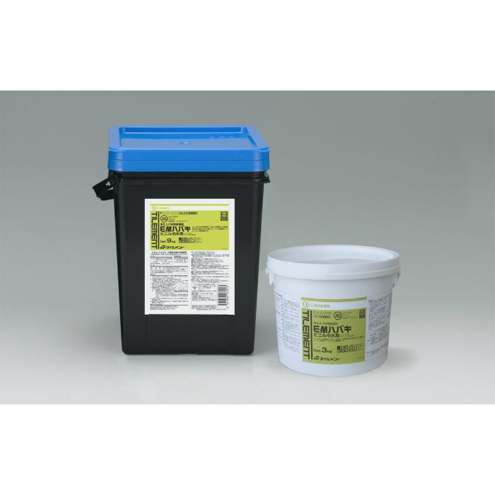 EMハバキ エコ 9kg コテ付き ビニル巾木用接着剤 1箱/ケース