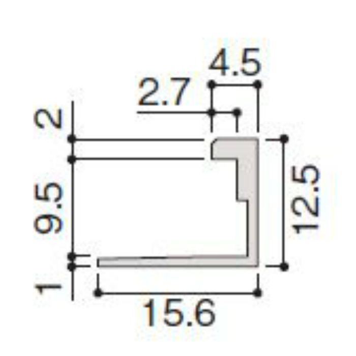 WP20-B6ZH 不燃壁材グラビオエッジ専用施工部材 アルミJ型見切 ホワイト