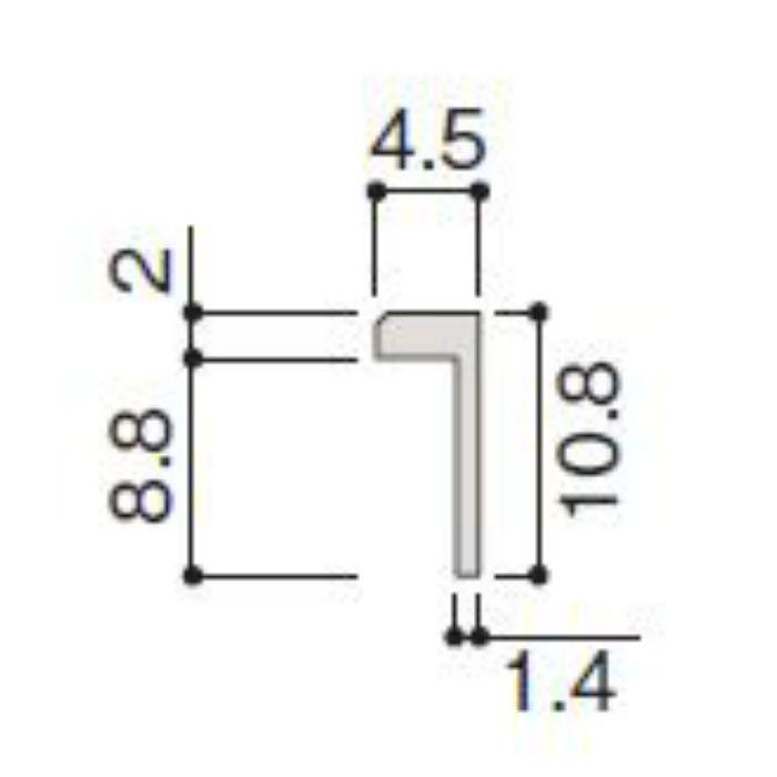WP20-B2ZK 不燃壁材グラビオエッジ専用施工部材 アルミ見切 Kグレー