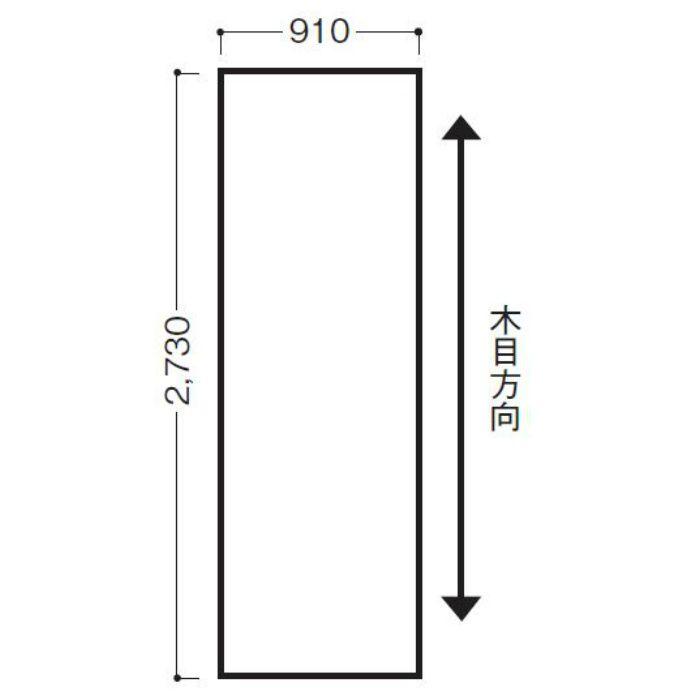 WFG3TAMWN-32 不燃壁材 グラビオTA 木目柄 ダルブラウン 3×8.5尺