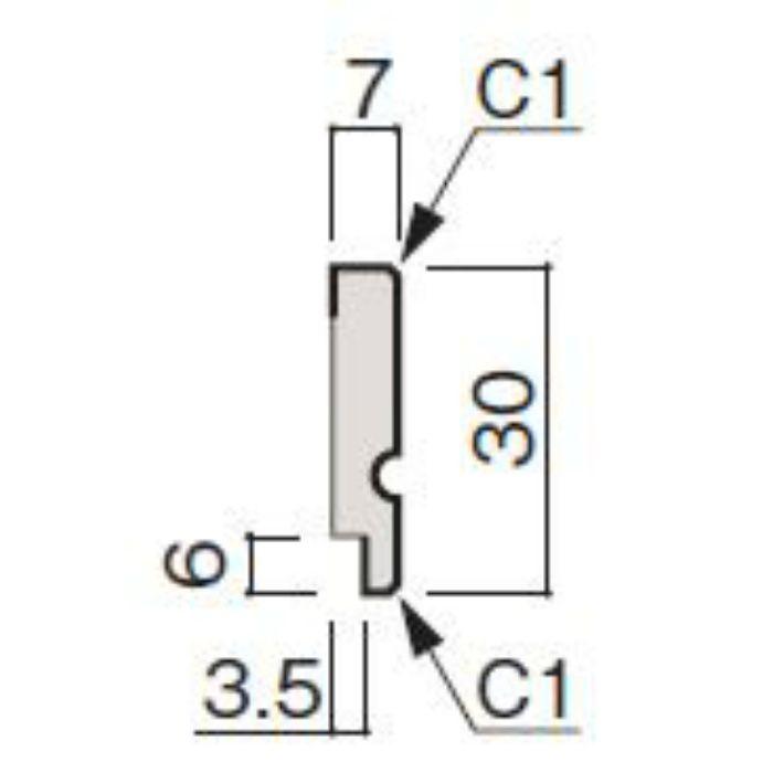 WF53-B9MW-92 グラビオ専用施工部材 木目柄(3mm) MW用回り縁