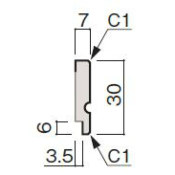 WF63-B926-92 グラビオ専用施工部材 木目柄(3mm) UB26用回り縁